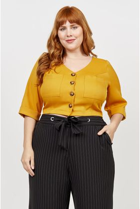 3200_Blusa_Plus_Size_Cropped_Botoes_Ashley_MOSTARDA_1