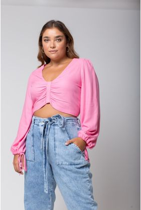 T189_8_Blusa_Plus_Size_Cropped_Viscose_ROSA_1
