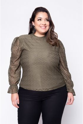 Blusa_Plus_Size_Renda_Lisa_Verde_1
