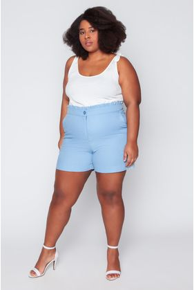 T039_Shorts_Plus_Size_Clochard_Linho_Azul_Celeste_1